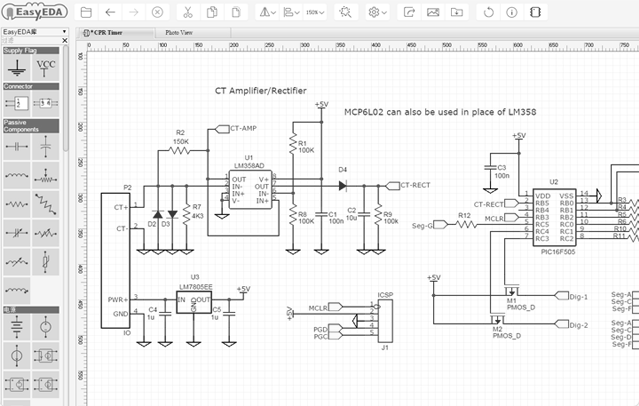 Schematic PCB layout circuit Simulator 1 easyeda online pcb design & circuit simulator draw wiring diagram online at bayanpartner.co