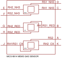 GAS-SENSOR-MICS-6814(10P-7.5X5.5MM)