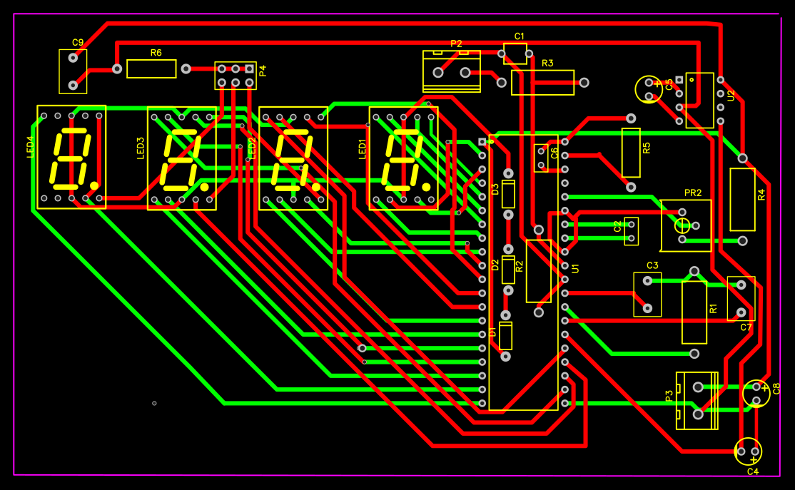 The Entire Circuit Is Built On This Singlesided Pcb Only A Few