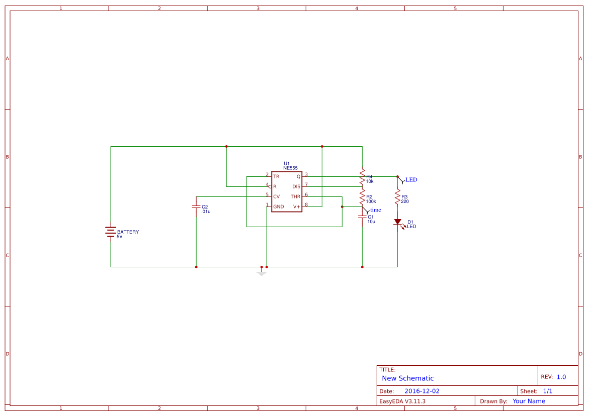 Ast Search Easyeda The 555 Timer Astable Circuit