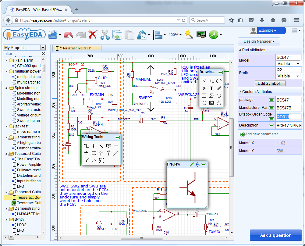 Forum Easyeda An Easier Electronic Circuit Design Experience 5 Pin Relay Footprint Adding Attributes To Help In Bom Generation