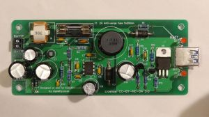 Automotive 12V to 5V USB charger assembled PCB
