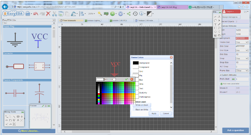 EsayEDA is a very good online circuit drawing software - EasyEDA