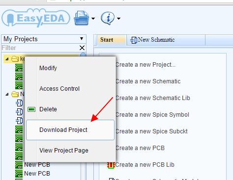 Backup Your EasyEDA Project Locally - EasyEDA