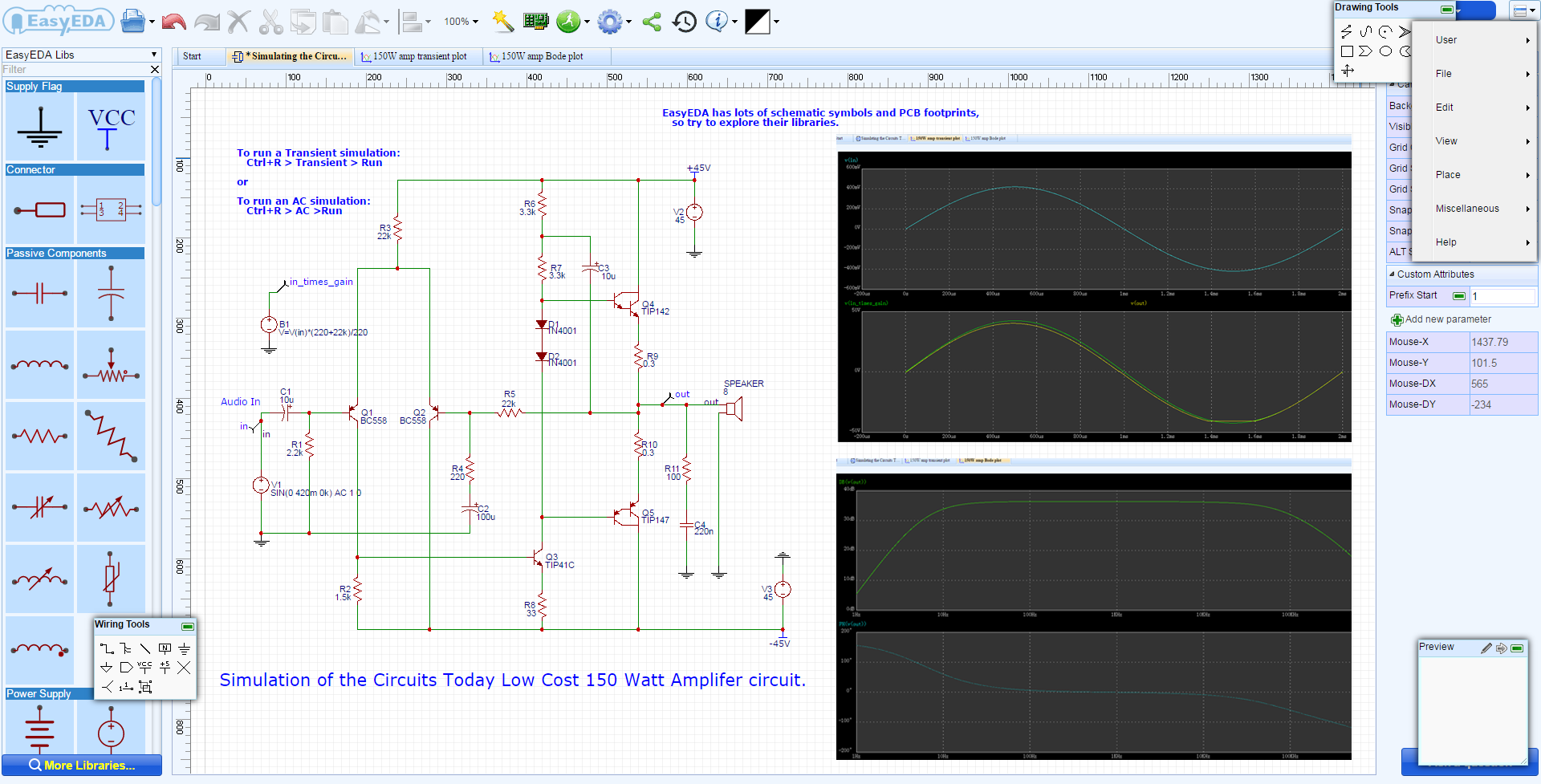 circuit simulation software for mac easyeda rh easyeda com circuit diagram maker online circuit diagram maker using equation
