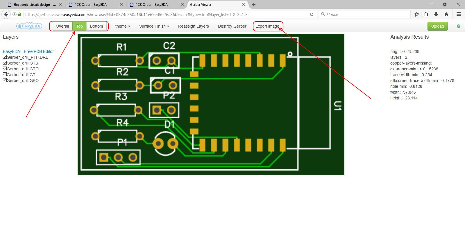 How To Make A Simple Circuit For Beginners Easyeda The Is Simplest Part Of This Project Click On Image Easyeda35 Gerber Viewer