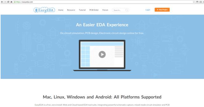 Software für Schaltplanentwurf und Schaltungssimulation - EasyEDA