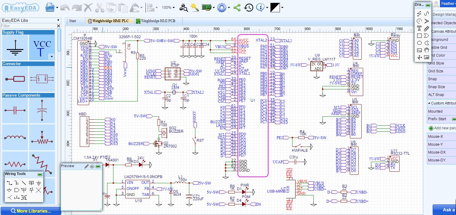 best free electrical schematic software easyeda rh easyeda com Wiring Schematic Symbols best electrical schematic drawing software