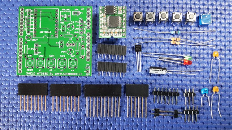 Kit Shield to use the module WT588-16P with Arduino