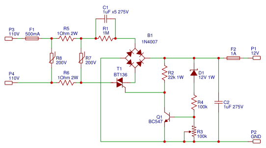 high current transformerless power supply easyeda rh easyeda com USB Charger Circuit Diagram Voltage Doubler Circuit Diagram