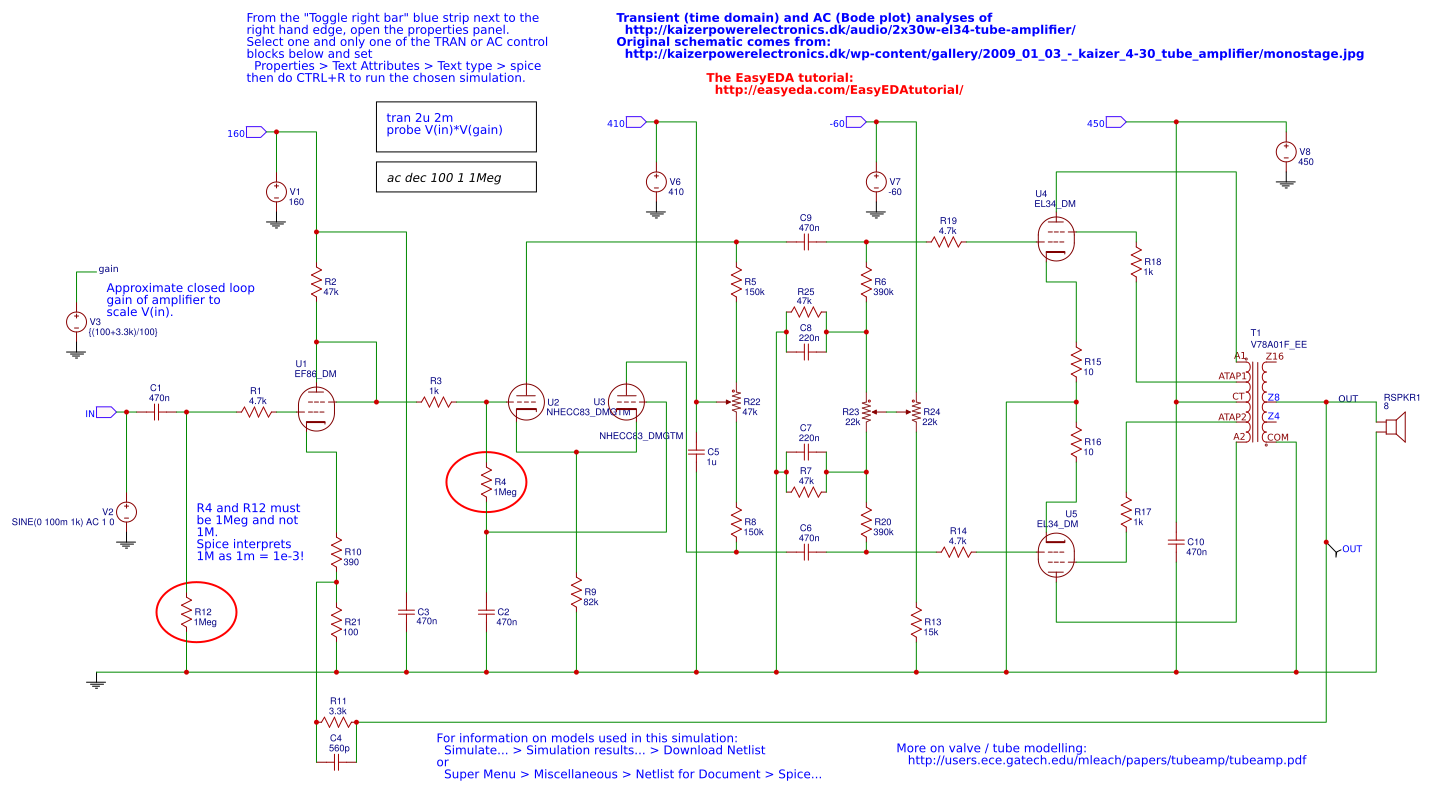 H Bridge Driver Circuit With Ir2104 And Microcontroller Easyeda Design 2x30w El34 Tube Amplifier Simulation Schematic