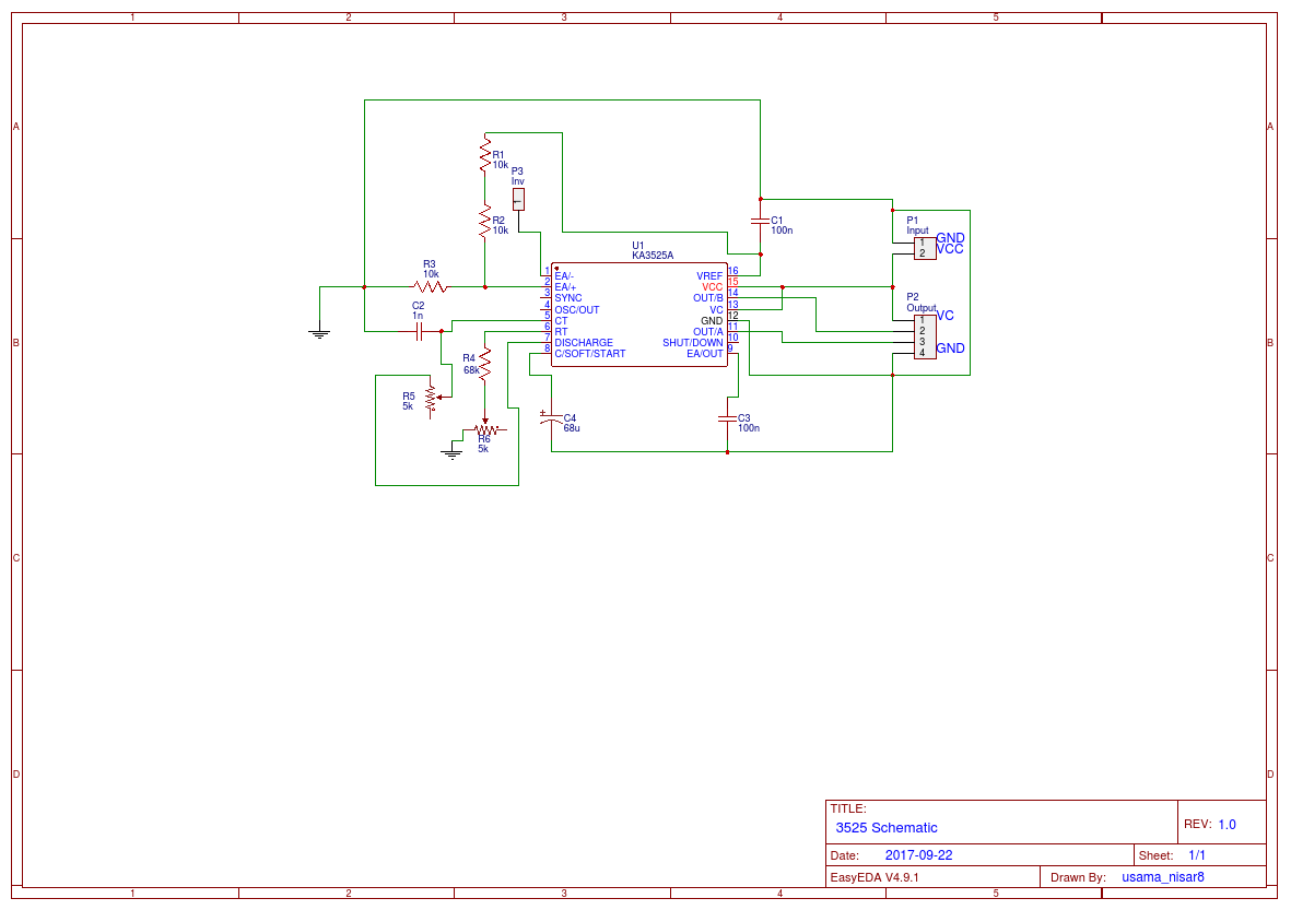 Pwm Controller Circuit Diagram Trusted Wiring Fotos Of Dc Motor Sg3525a Easyeda 240v Control