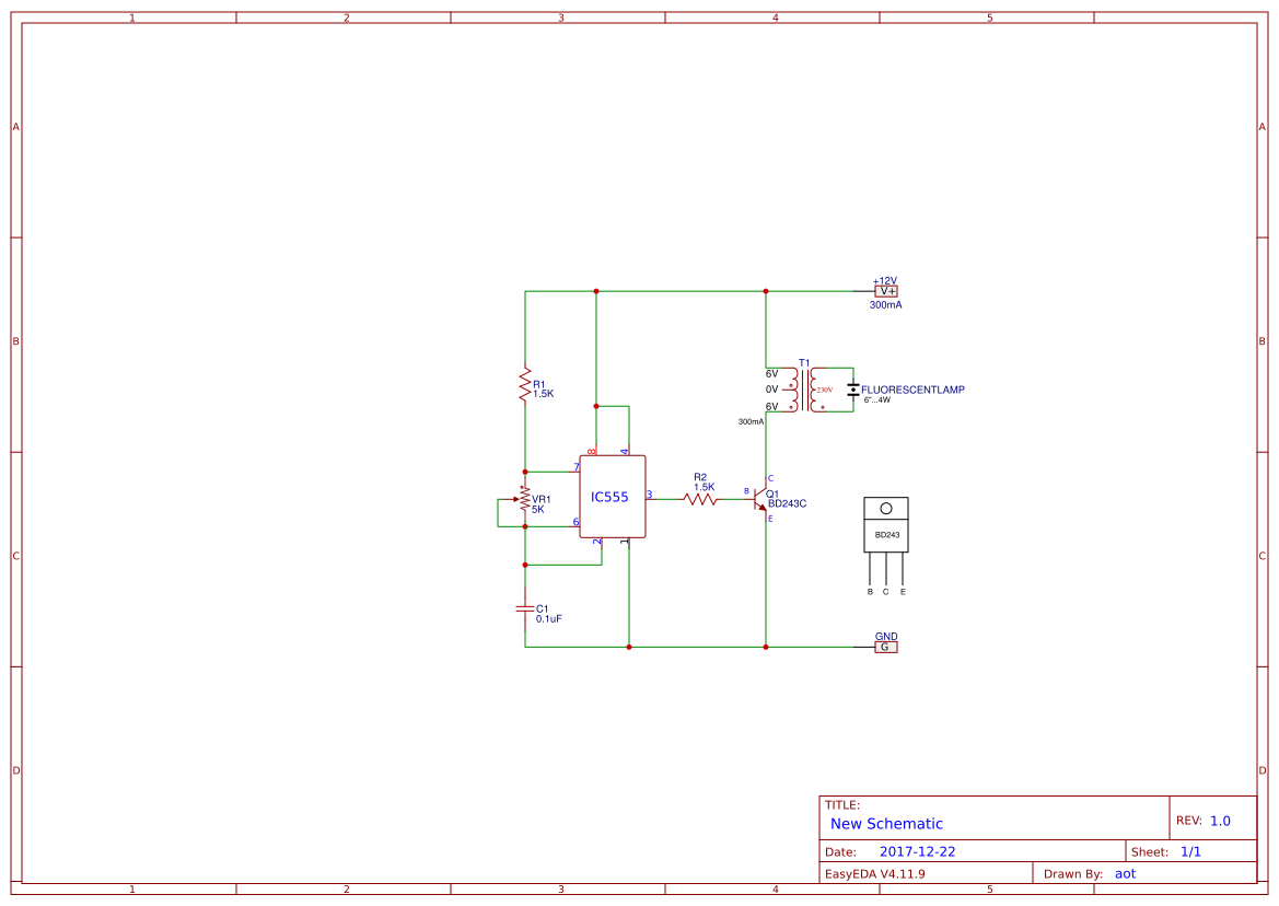 4w fluorescent lamp driver electronic circuits and diagram wiring