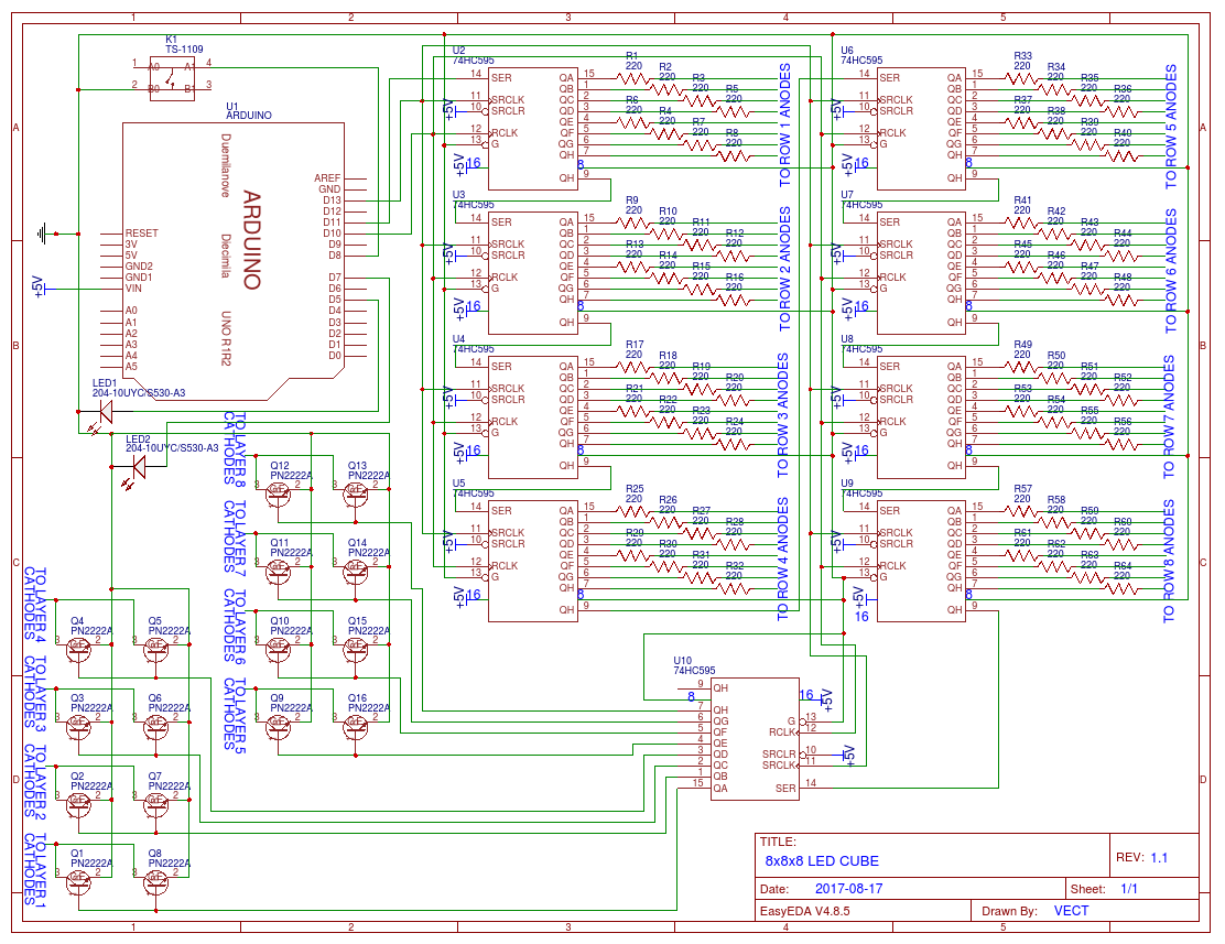 Led Cube Schematic Diagrams Circuit Diagram Of 8x8x8 Rgb Easyeda Demo