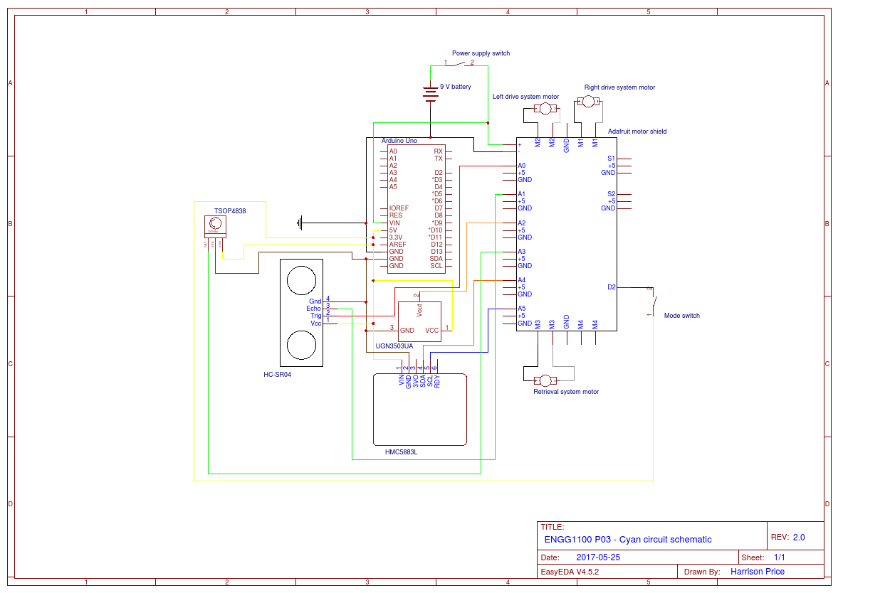 Engg1100 Circuit Diagram Easyeda 9v Battery Series Wiring Connected Motor Shield