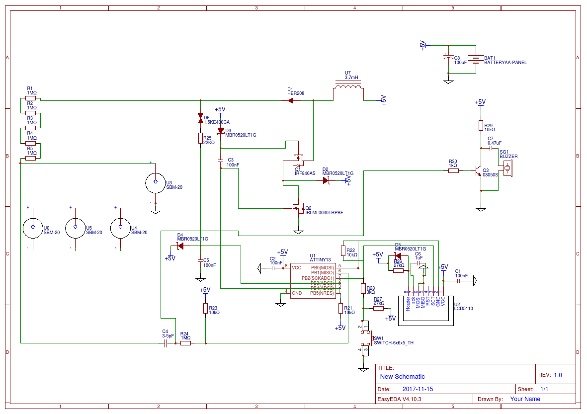 Dozimetr For Sbm 20 Easyeda Geiger Counter Schematic Help With 4xsbm And Nokia3310 Lcd
