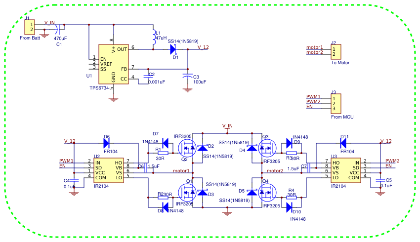 H-Bridge Driver Circuit with IR2104 and Microcontroller ... on
