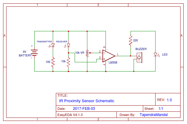 IR Proximity Sensor - EasA on infrared sensor circuit diagram, proximity sensor simple circuit diagram, ir sensor circuit diagram,