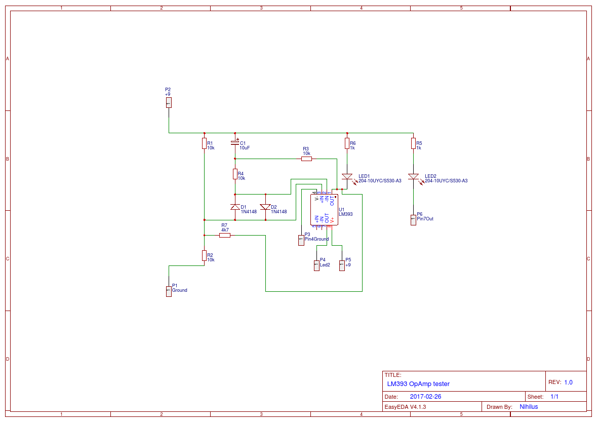 Lm393 Test Circuit Easyeda Diagram Schema
