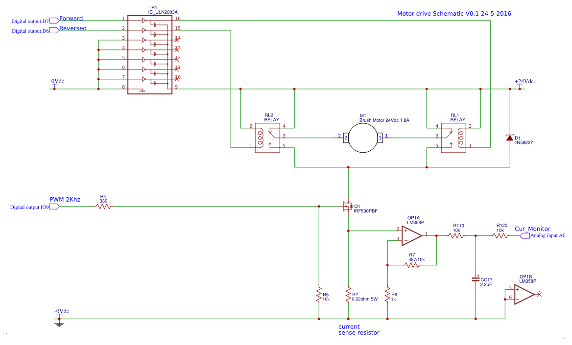 Opensource Linear Actuator Controller Calculated For Concens 35 220v Wiring Diagram Motor Driver Schematic