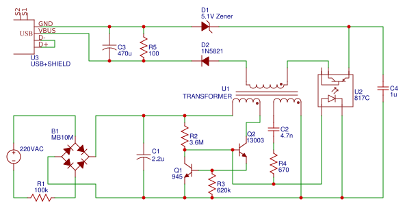 220V AC to 5V DC converter - EasA Ac To Dc Converter Schematic Diagram on