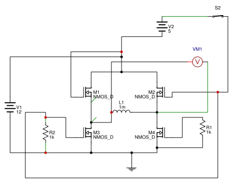 H bridge control using N channel mosfets - EasA on