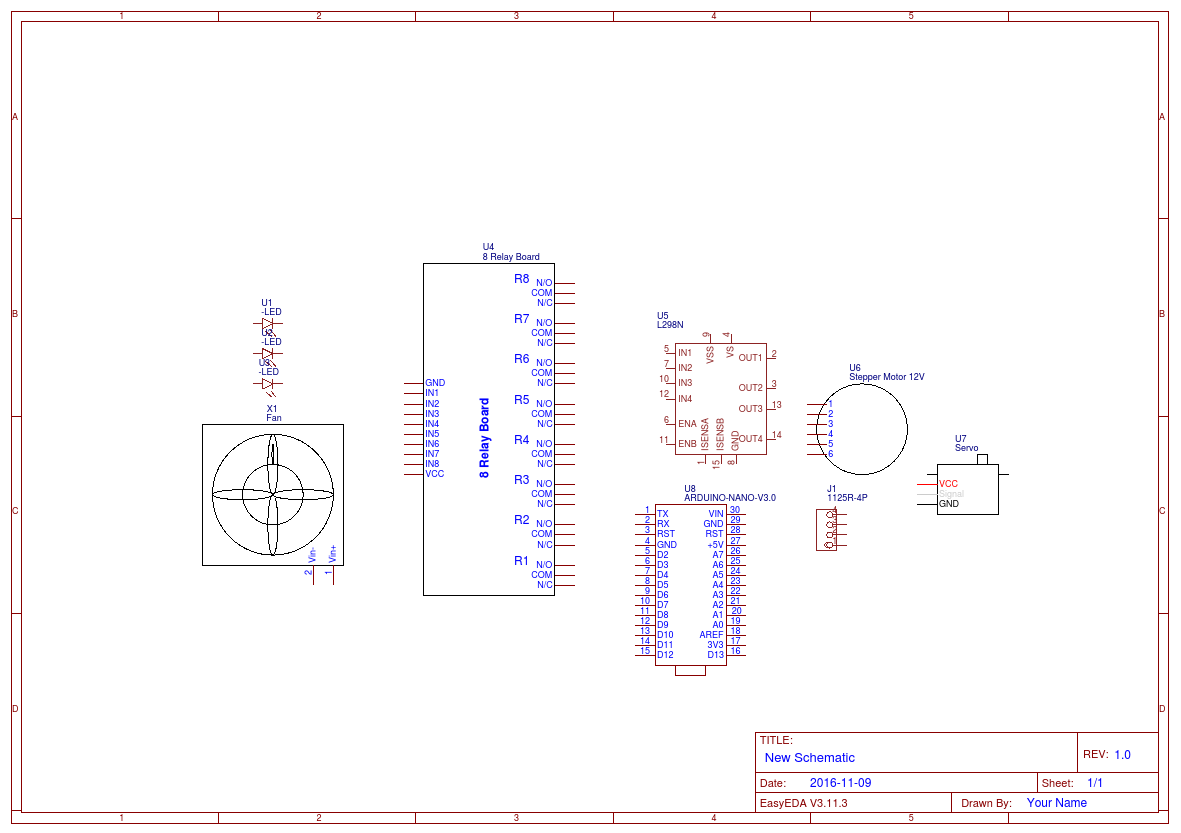 Ilogic Demo Easyeda Relay Board Schematic Open In Editor