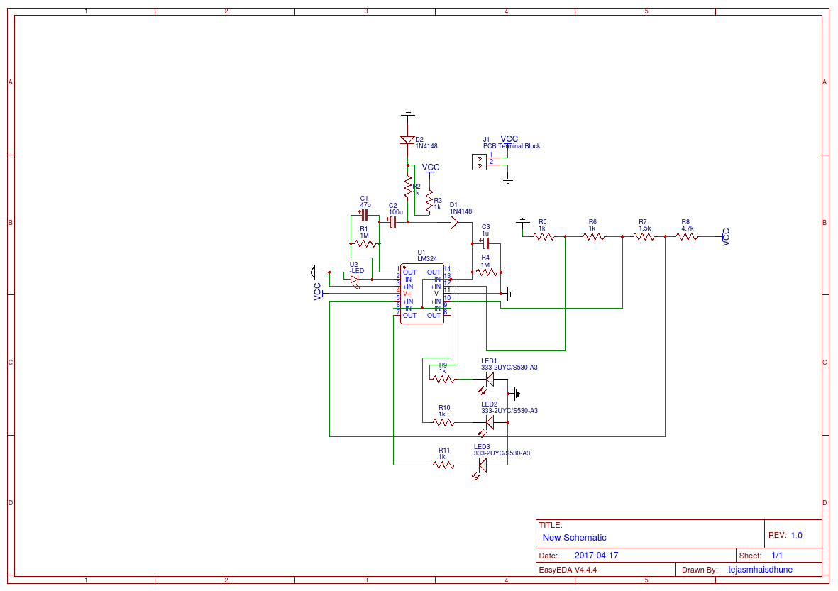 Accelerometer Based Robotic Arm With Out Microcontroller Easyeda Circuitschematic New Schematic1 Rx