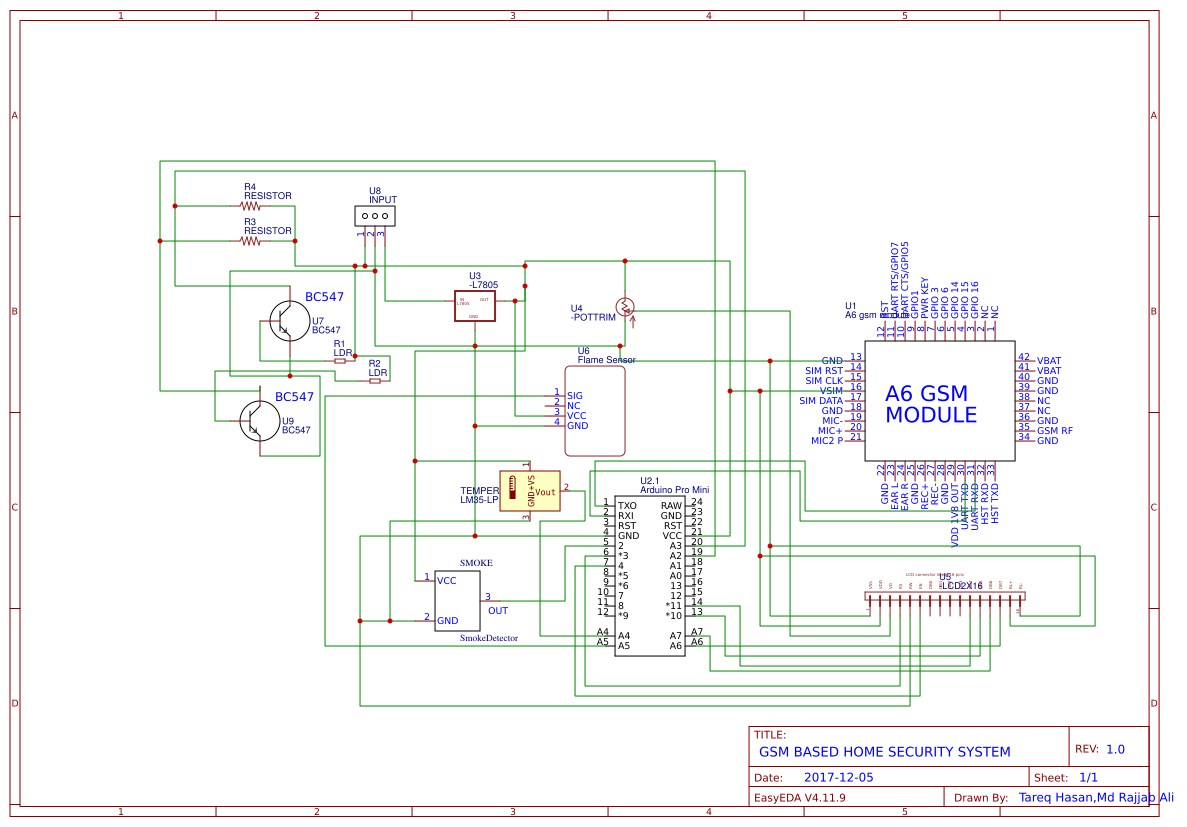 Gsm Security System Easyeda Diagram New Schematic 2