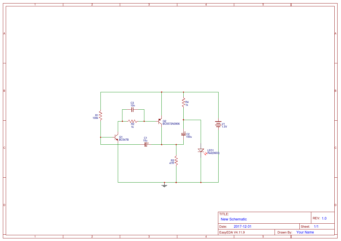 15 V Led Flasher Easyeda 2 Circuit Diagram New Schematic