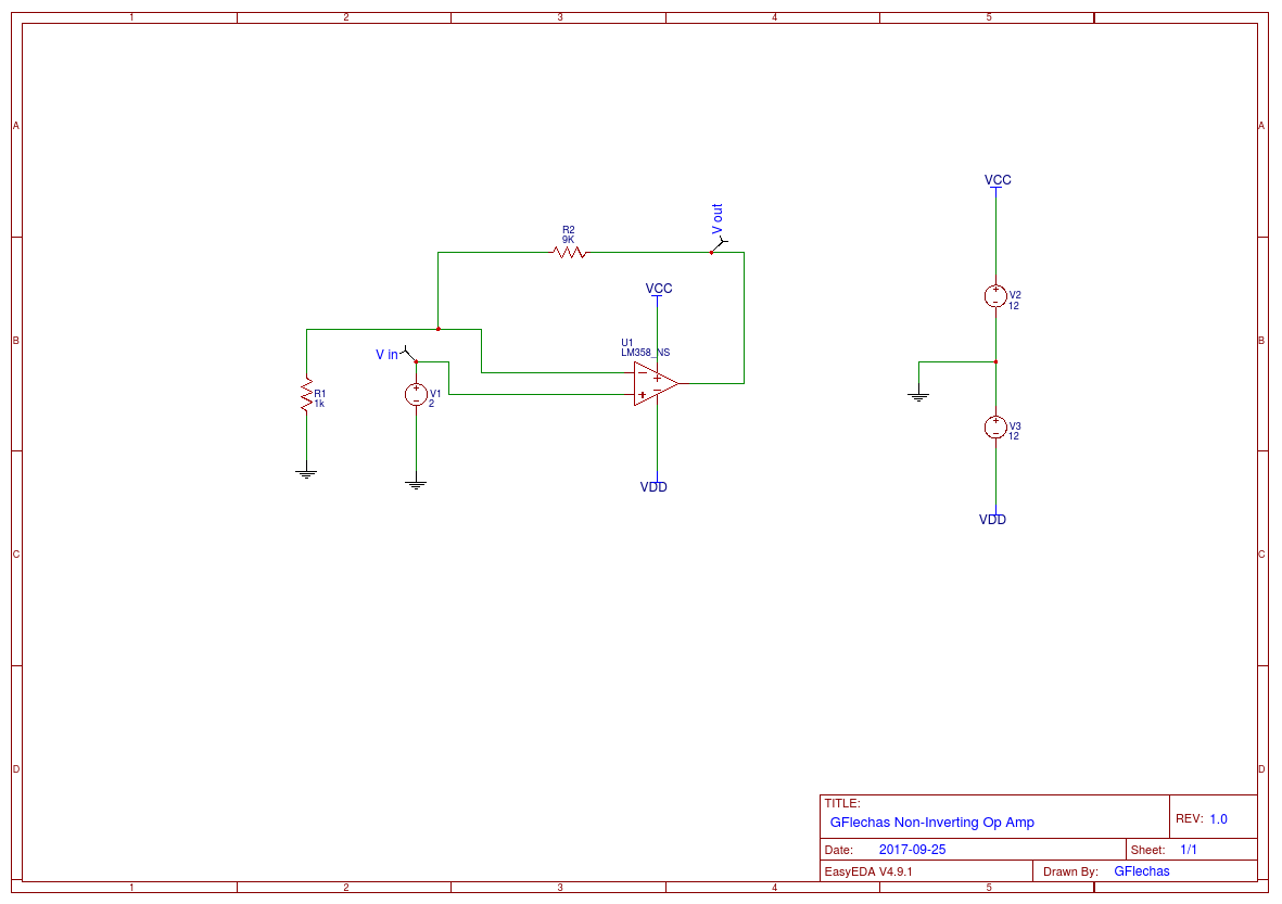 Opamp Simulation Easyeda Operational Amplifiers Summing Amplifier