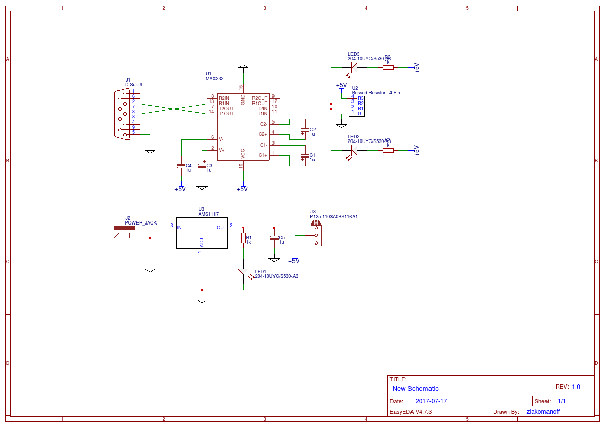 Rs 232 To Ttl Uart Easyeda Pin Diagram Rs232
