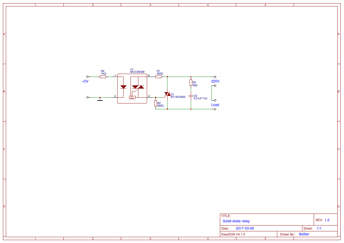 Solid State Relay Easyeda Basics Of Schematic