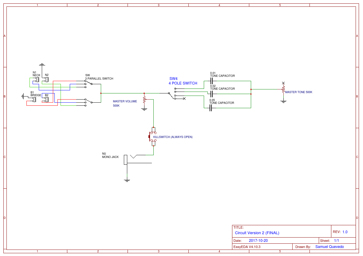 Preliminary Circuit Guitar 1 Easyeda Vol Tone Piezo Wiring Diagram Open In Editor