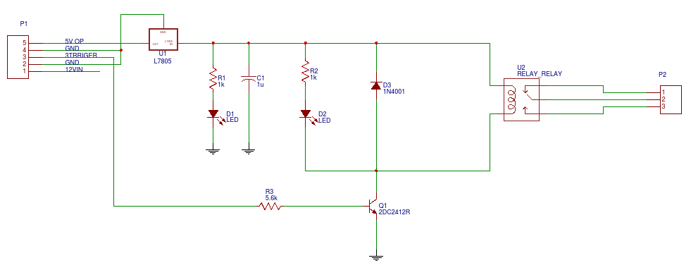 ldr with relay circuit - EasyEDA