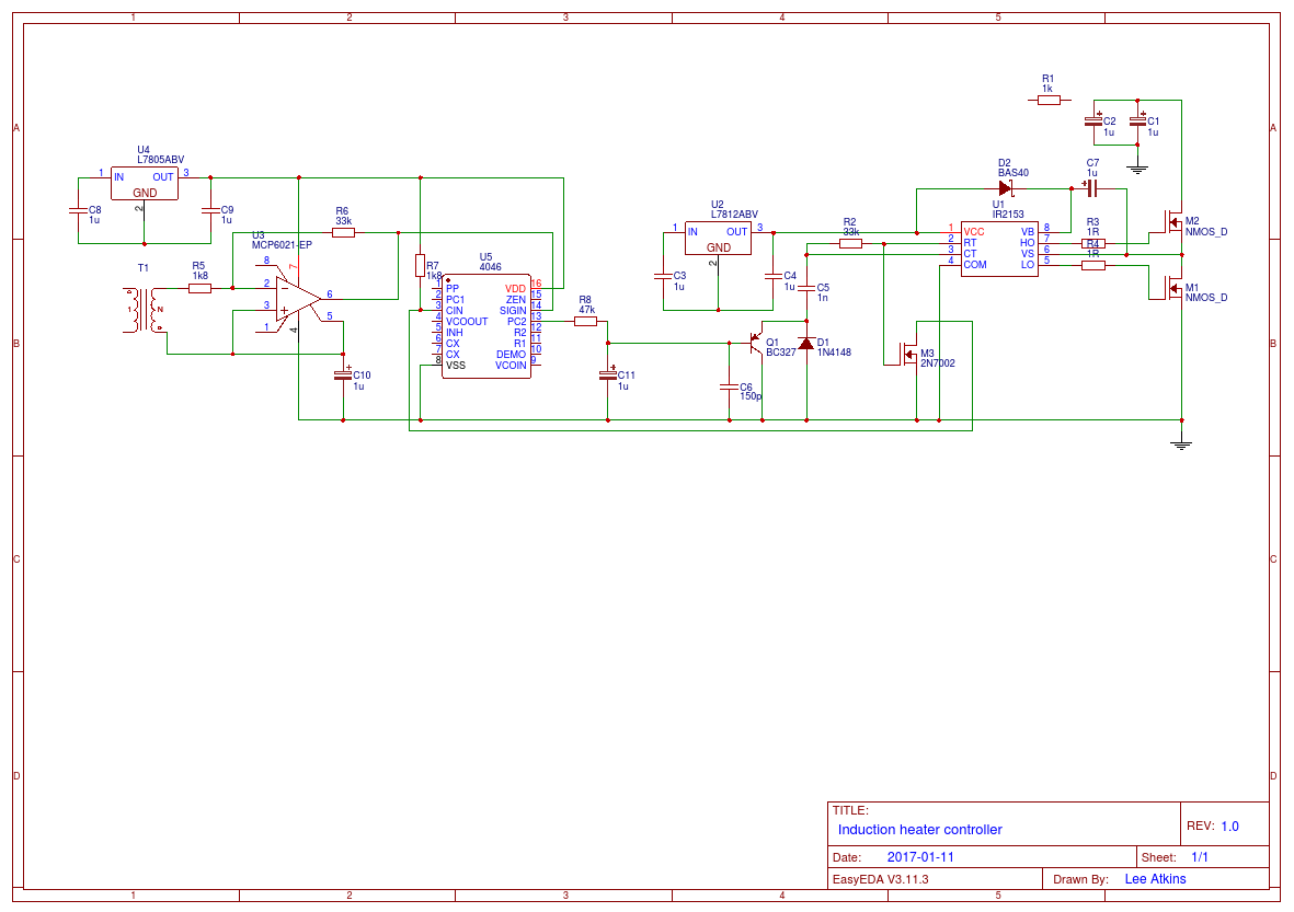 Induction Heater Easyeda Heating Diagram Controller