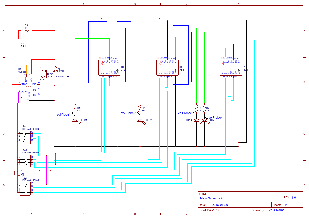 Bcd Converter Schematic Detailed Wiring Diagrams To Binary Electronics Telecommunication Circuit Decimal Easyeda