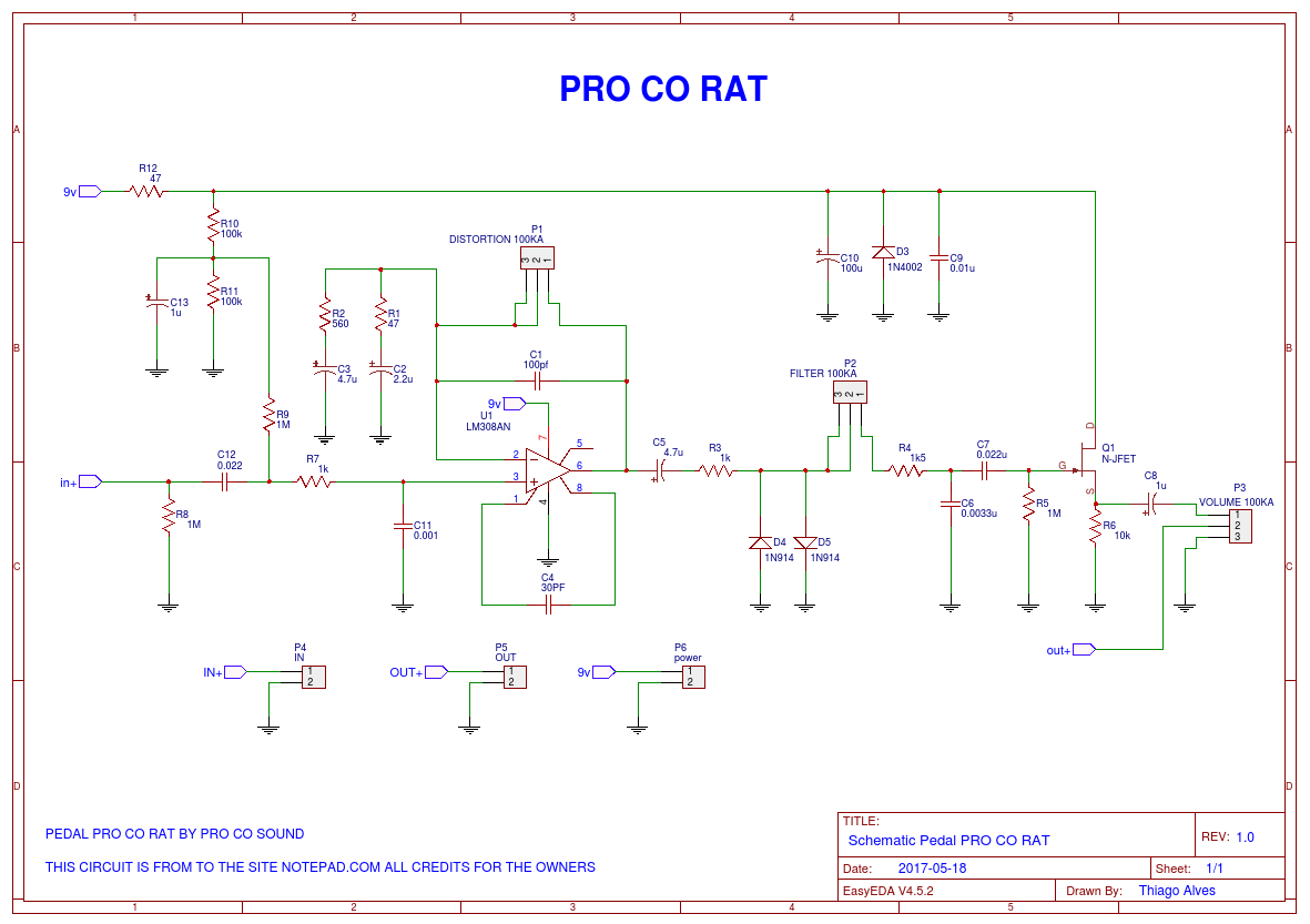 Pro co RAT - EasA Rat Schematic on