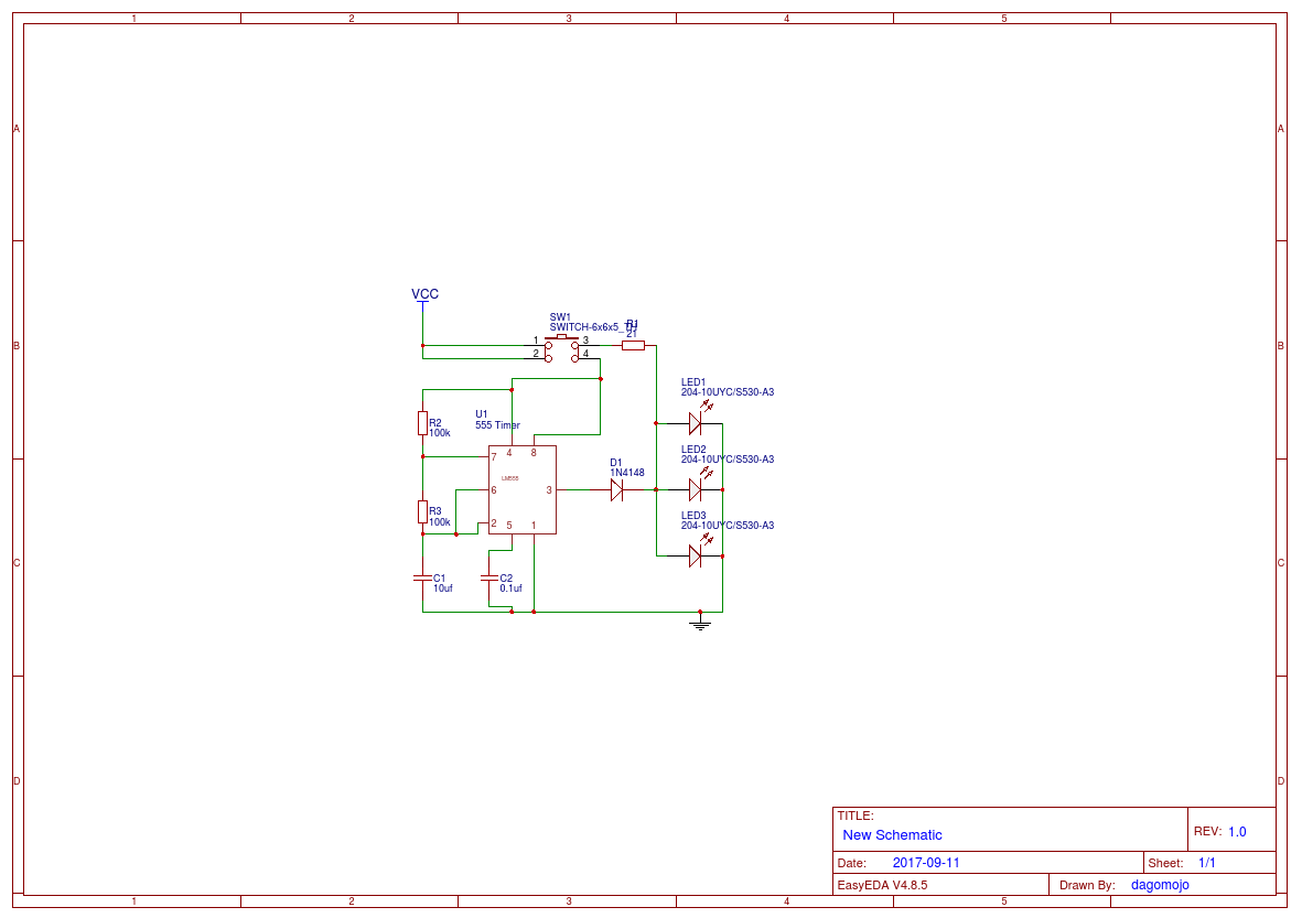 Flashlight Circuit Diagram Amplifier Trusted Wiring Simple Nicad Battery Charger By Little Part Eleccircuit Easyeda How Do Flashlights Work