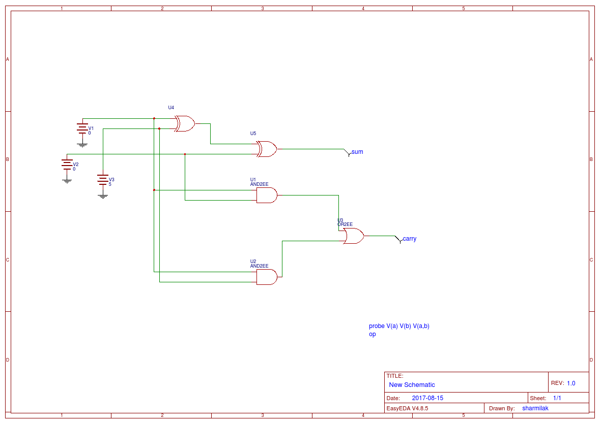 Full Adder And Subtractor Easyeda Diagram 1