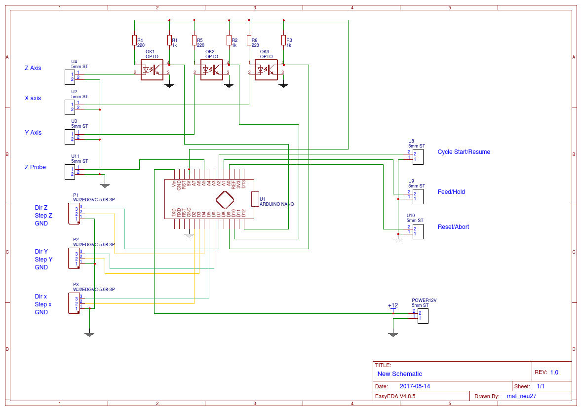 Optoisolator Circuit Diagram Grbl Pcb Complete Solution With Optocouplers Easyeda Ok