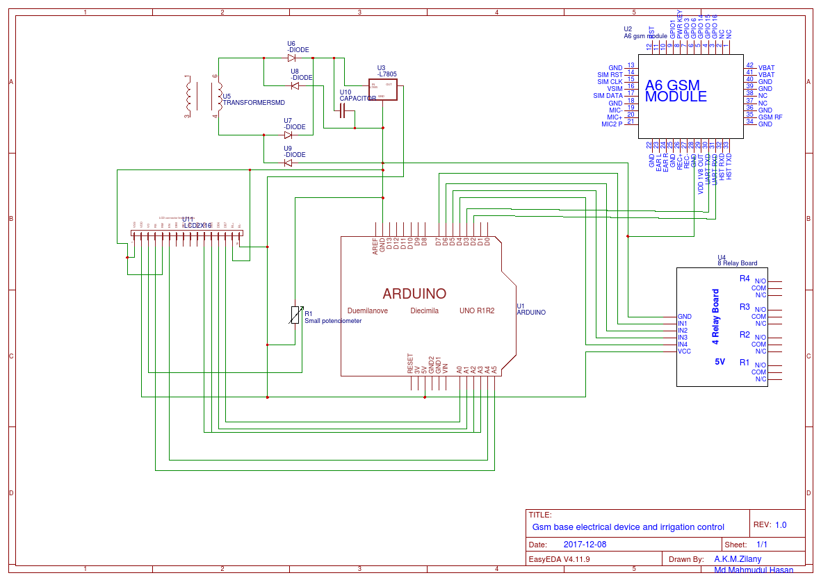 Gsm Security System Easyeda Relay Board Schematic New 2