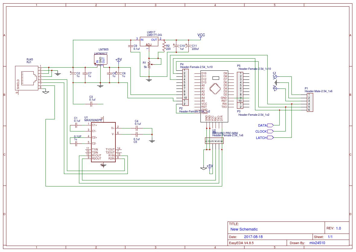 23 Inches 7 Segment Display 74hc595 Easyeda Circuit Diagram With Engineering Project