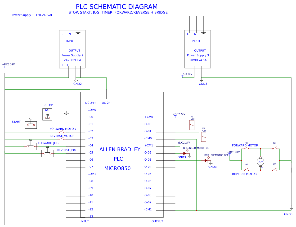 Ladder Logic Easyeda Diagram Plc Wiring