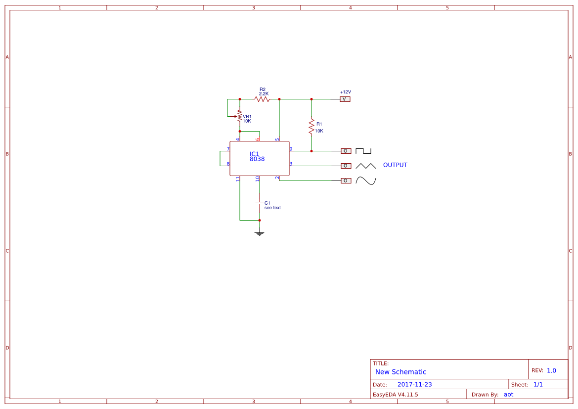 Mini Function Generator Circuit Using Icl8038 Easyeda Triangle Wave Schematic Simple Sch