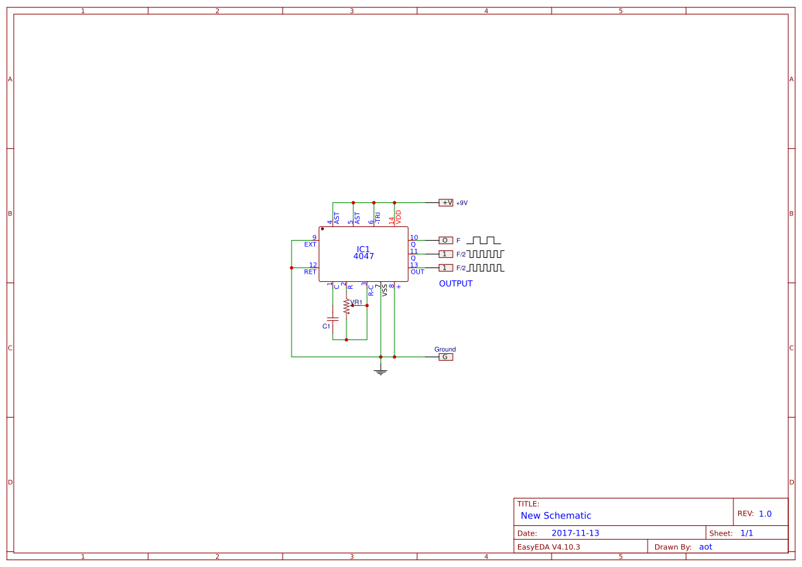 Simple Astable Multivibrator Circuit Using Cd4047 Cmos Ic Easyeda Circuits Help 555 Timer
