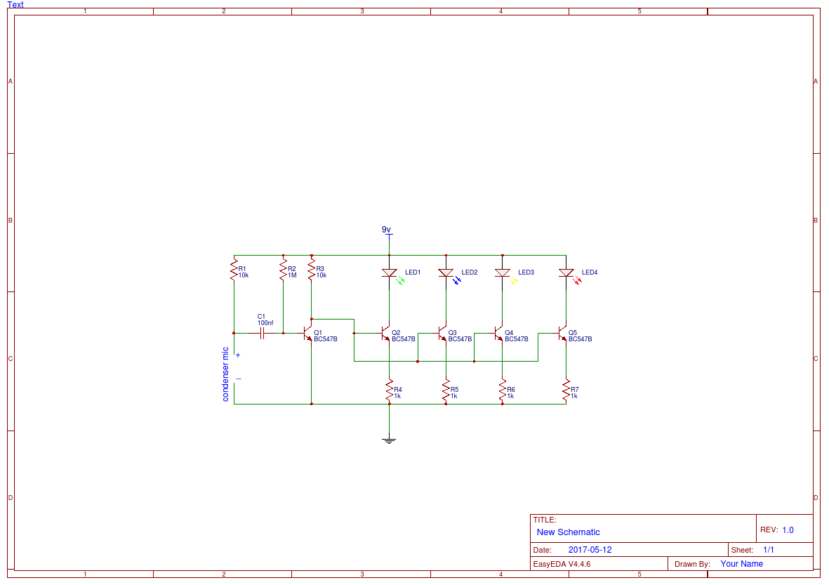 Simple Led Music Light Circuit Diagram Easyeda In A Parallel