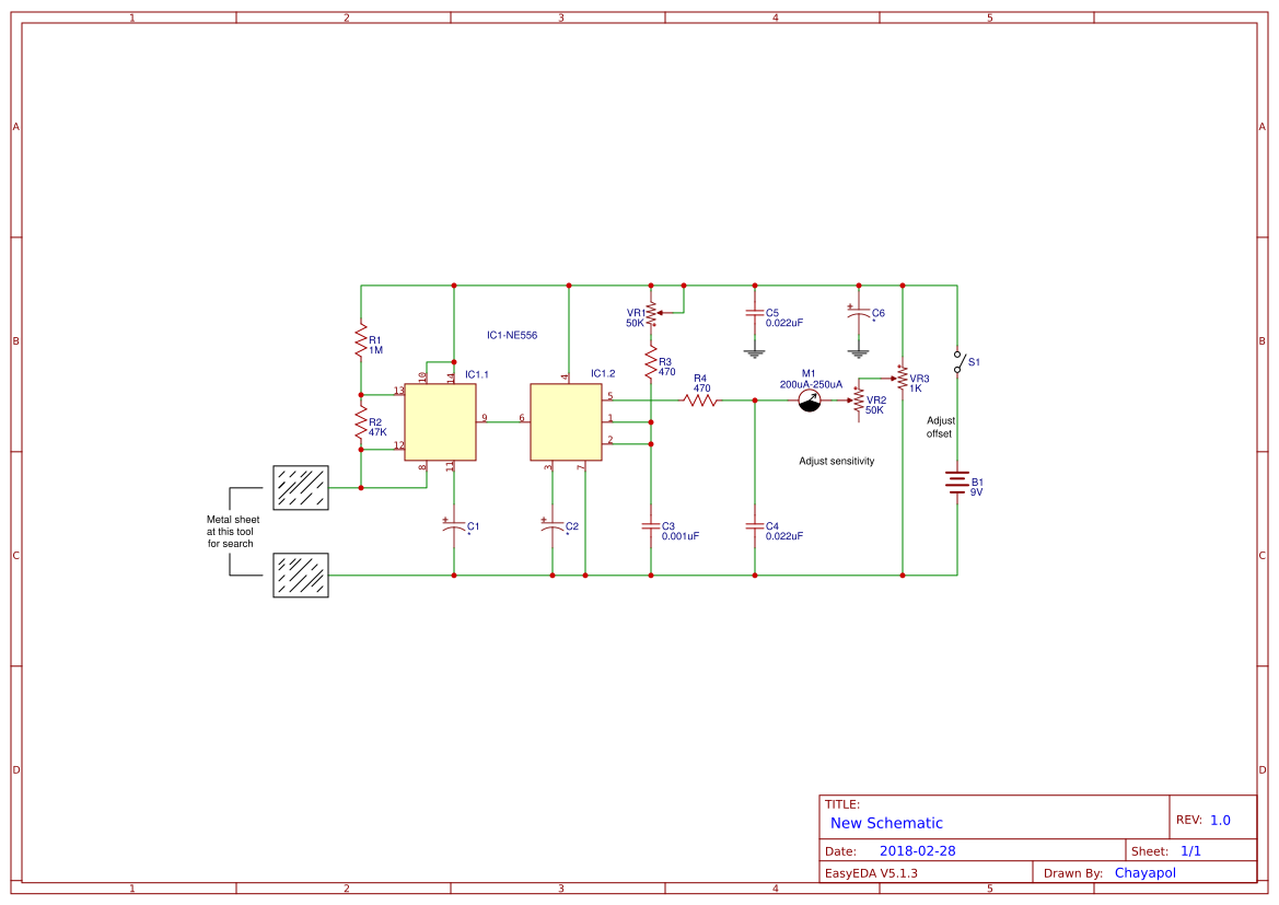 Simple Metal Detector Project Easyeda Circuits Diagram Projects