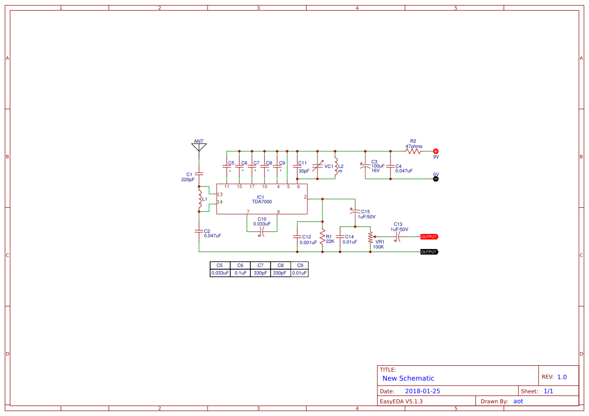 Simple Fm Receiver Circuits Using Transistors And Ic Easyeda Radio Circuit Diagram Small
