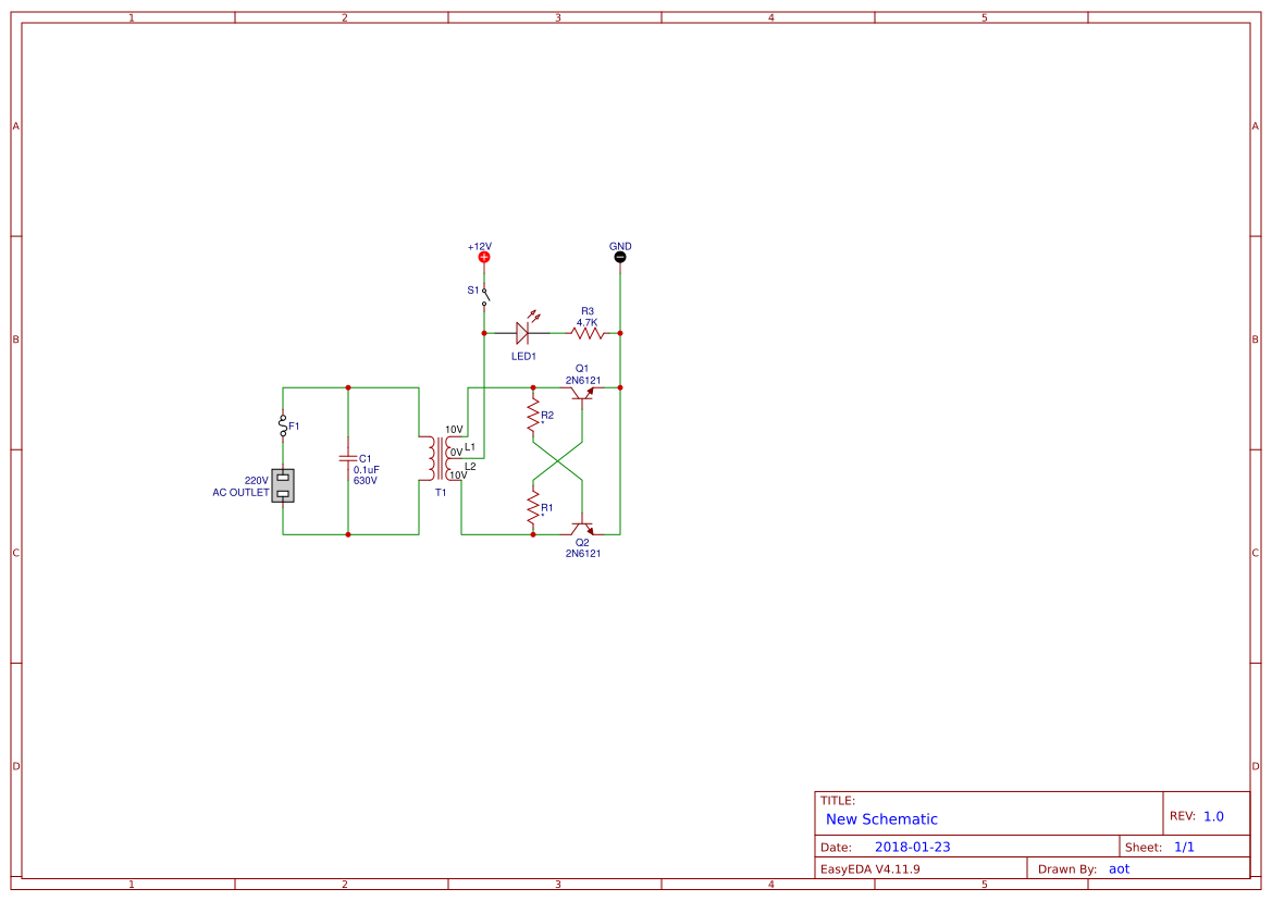 Simple Led Schematic Transistor Blink Led Circuit